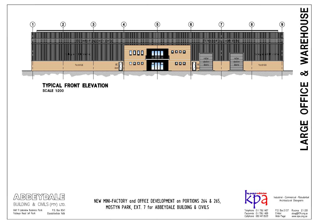 Front Elevation With Lift : Click to view site plan unit ground and